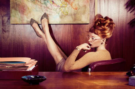 Chic Business Woman Footwear - The Charlotte Olympia '9 till 5' Collection is Inspired by the 50s