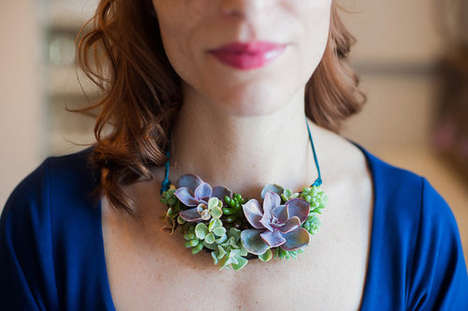 Living Plant Jewelery - Susan McLeary Sells Real Flower Jewelry through Her Etsy Shop PassionFlower