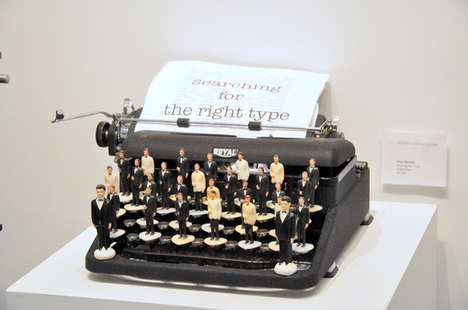 Toy Typewriter Installations - Nina Bentley