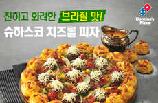 Cheesy Brazilian Pizzas - This Domino's South Korea Pizza Celebrates the World Cup and Brazil
