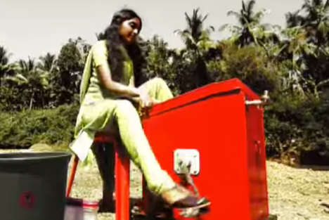 Alternative Pedal-Powered Washers - An Indian Teenage Girl Invented a Non-Electric Washing Machine