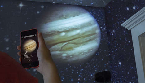 At-Home Planetarium Apps - Luna's Mini Planetarium & App Puts the Solar System at Your Fingertips