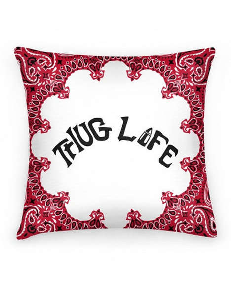 Rapper Motto Decor - Shop Jeen's Thug Life Pillow is Inspired by Tupac Rap Lyrics