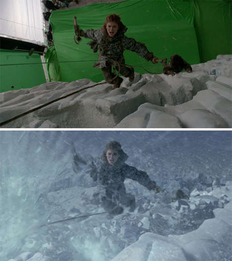 Visual Effects Comparisons - Revealing Before-And-After VFX Shots of Favorite Movies and TV Shows
