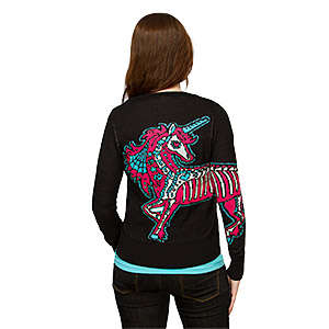 Skeletal Unicorn Cardigans - This Unicorn Sweater Turns the Mythical Pony into a Gothic Rebel