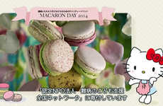 Charitable Cartoon Cat Macarons - The Pierre Hermé Hello Kitty Macarons Benefit Make-A-Wish HK