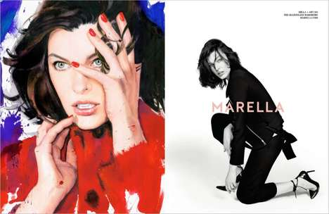 Artistically Emotional Fashion Ads - The Marella Fall 2014 Campaign Stars Actress Milla Jovovich
