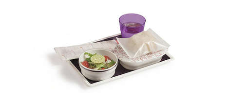 Eco-Friendly Food Trays - Virgin Atlantic Airlines Unveiled Food Trays That are More Economical