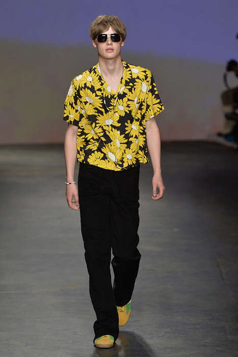 Groovy Psychedelic Menswear - The Topman SS 2015 is a Blast from the Past