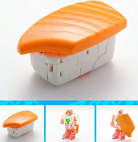 Sushi Transformer Toys - This Transforming Sushi Set Turns Japanese Cuisine into Action Figures