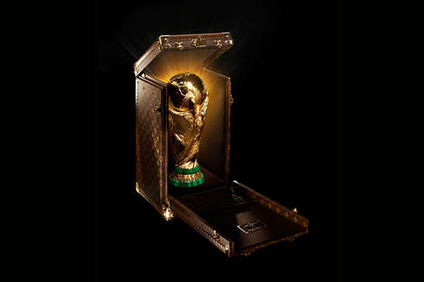 Luxurious Trophy Cases - This Louis Vuitton World Cup Trophy Case Commemorates the FIFA Games