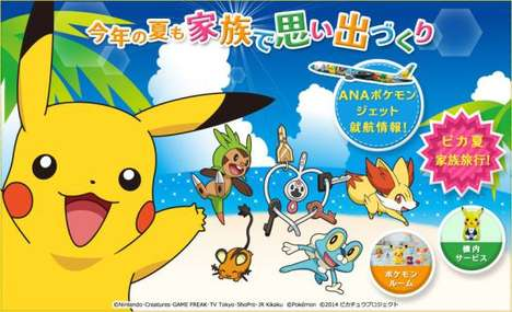 Anime Monster Travel Campaigns - All Nippon Airways Has a Special Summer Pokemon Travel Campaign