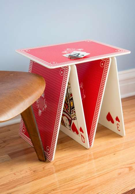 Stacked Playing Card Furnishings - The A La Card Table from ModCloth is a Winning Accent Piece