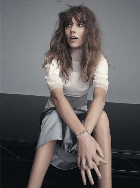 Unusually Unkempt Editorials - The June/July 2014 Russh Magazine Erichsen Photoshoot is Messy