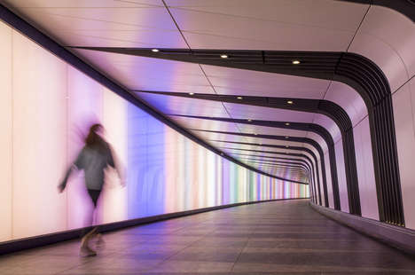 Artistic LED-Lit Tunnels - The Light Lab Installs a Modern Tunnel at King