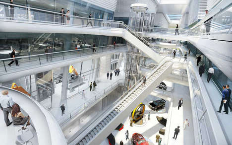 Integrated Office Architecture - The Hankook Technodome Features Merged Spaces