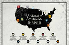 Patriotic Fantasy Maps - This Infographic Brings the World of Game of Thrones to the USA