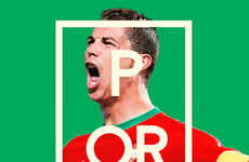 Typographic World Cup Posters - Ricardo Mondragon's Poster Series Capitalizes on the Football Frenzy