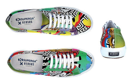 Italian Mashup Sneakers - The Superga x Versus Versace Shoe Collection Mixes Two Iconic Brands
