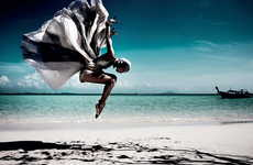 Beachside Ballerina Captures - Zebule Magazine's Evasion Editorial Displays Dynamic Dancer Poses