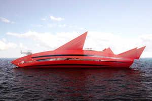 Vasily Klyukin's Luxury Yacht Design Concept Has a Shark-Like Shape