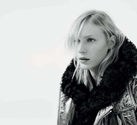 Barefoot Rocker Fashion Ads - The Diesel Black Gold AW14 Campaign Stars Julia Nobis