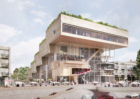Step-Like Cultural Centers - NL Architects Wins the Competition to Design the ArtA Arnhem Building