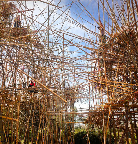 Giant Bamboo Installations (UPDATE) - The Starn Brothers Complete Another Big Bambu Exhibit