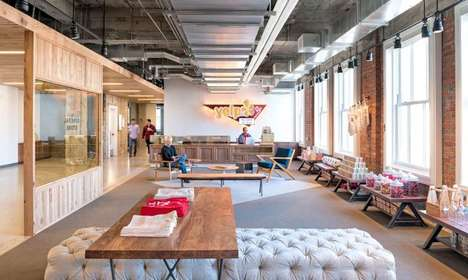 Industrially Designed Offices - The Yelp! Headquarters in San Francisco Look Similar to a Loft