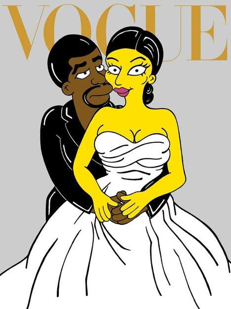 Cartoon Celebrity Parodies - Blogger aleXsandro Palombo Cleverly Turns Kimye into Cartoon Characters