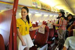 Lucky Air Flight Attendants Wear Team Brazil Jerseys for the World Cup