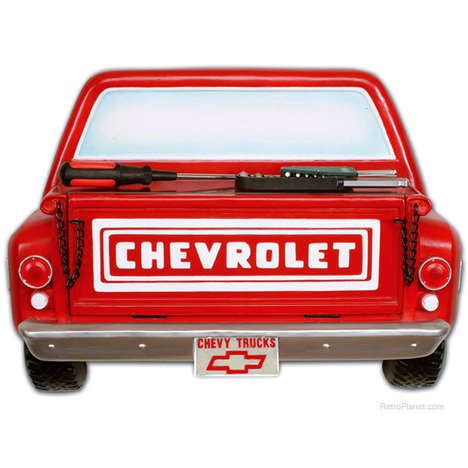 Car-Disguised Storage Units - The Chevy Truck Shelf from Retro Planet Resembles the Rugged Vehicle