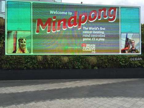 Mind-Controlled Gaming Billboards - Mindpong Uses Interactive Billboard Advertising to Beat Cancer