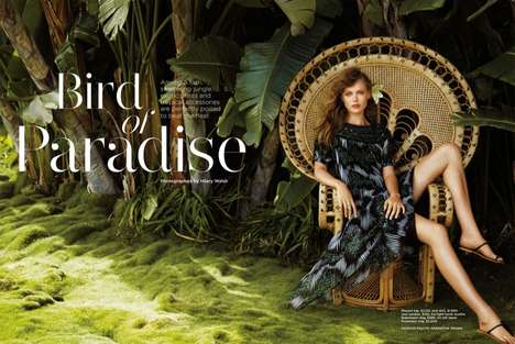 Patterned Paradise Fashion - The C Magazine Summer 2014 Editorial Stars Model Frida Gustavsson