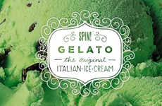 Picturesque Ice Cream Branding - The SPIN! Gelato Design Uses a Cute Frame for Details