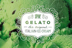 The SPIN! Gelato Design Uses a Cute Frame for Details