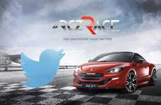 Social Media Auto Races - The Peugeot RCZ R Challenges Twitter Users in a Race from 0 to 140