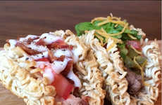 These Delicious Noodle Tacos Fuse Together Japanese and Mexican Cuisine