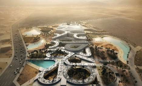 Calligraphy-Inspired Complexes - Noble Qur'an Oasis by Mecanoo Embodies Religious Writings