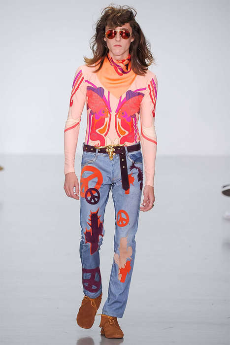 Contemporary Psychedelia Runways - The Katie Eary Spring/Summer 2015 Collection is 70s Themed