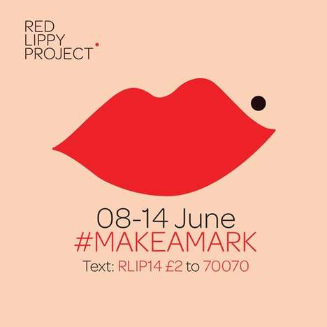 Bold Lipstick Cancer Campaigns - The Red Lippy Project Raises Awareness on Cervical Cancer