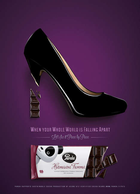 Chocolate Fix Ads - This Panda Dark Chocolate Ad Proves Chocolate Can Fix It All