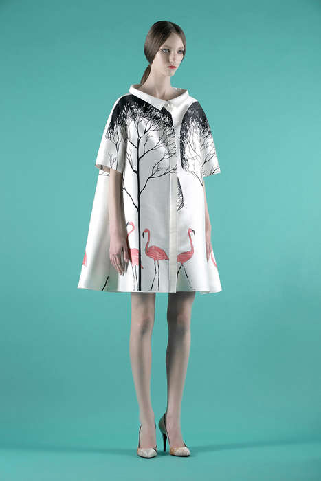 Vintage Flamingo Fashions - The Vika Gazinskaya Spring/Summer Collection is Fun and Versatile