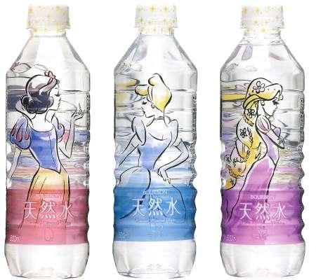 Cartoon Princess Water Bottles - Japan's Bourbon Disney Water is Printed with Princesses