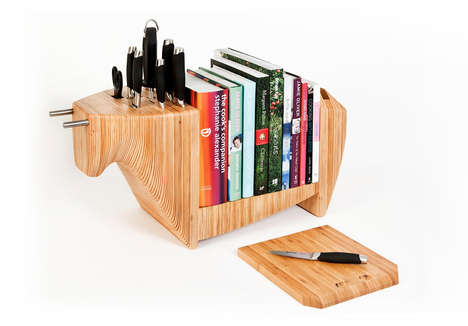 Animalistic Kitchen Storage Blocks - The Kitchen Bull is a Kitchen Organizer That Tackles It All