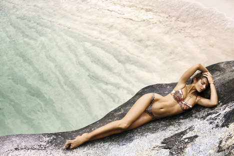 Idyllic Island Lookbooks - The Zimmermann Resort Swim 2014 Lookbook is Sensual and Sophisticated