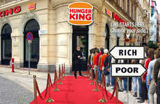 Inequality Fast Food Restaurants - Hunger King by Jani Leinonen Gives Money (Not Food) to the Poor