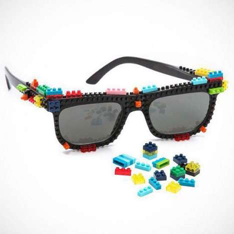 Building Block Sunglasses - The Nanoblock Sunglasses Feature Miniature LEGO-Like Blocks