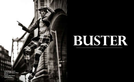 Vintage Menswear-Inspired Editorials - The Amazing Magazine 'Buster' Photoshoot Stars Model Tatiana
