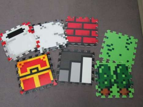 8-Bit Gamer Mats - 'Quest 8-Bit Mats' Can Turn Your Room into a Fantasy Land